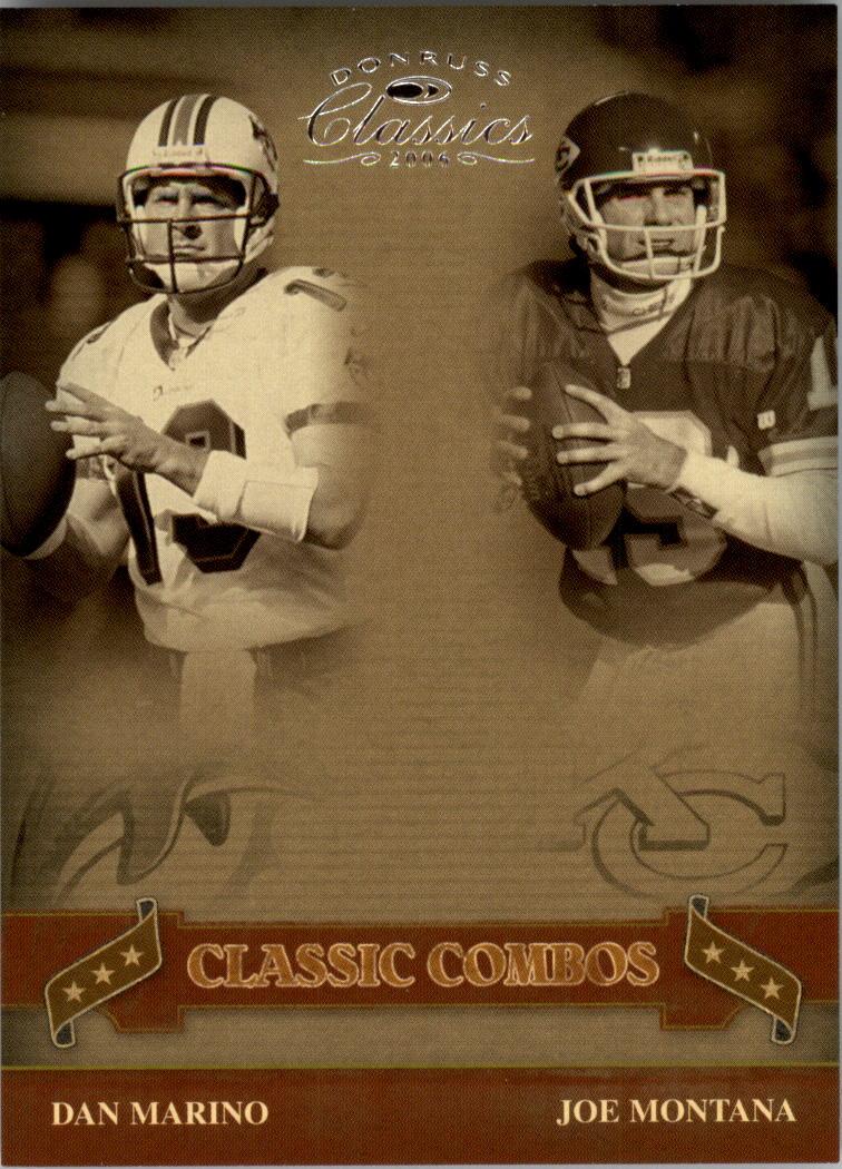 2006 Donruss Classics Classic Combos Silver #3 Dan Marino/Joe Montana