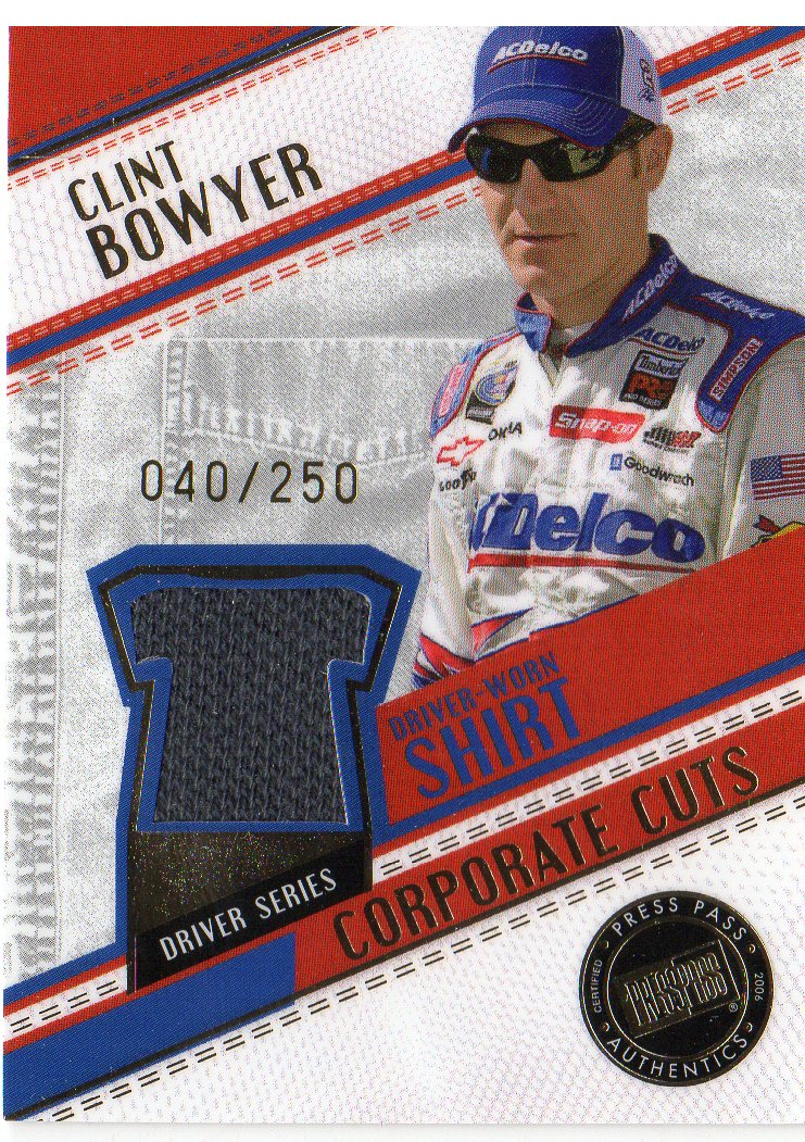 2006 Press Pass Stealth Corporate Cuts #CCD12 Clint Bowyer