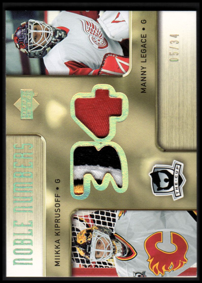 2005-06 The Cup Noble Numbers #NNKL Miikka Kiprusoff/Manny Legace/34