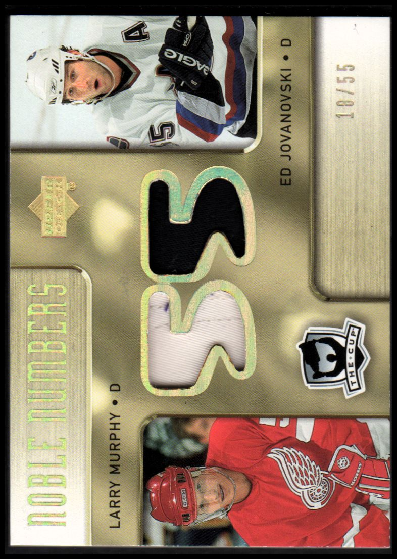 2005-06 The Cup Noble Numbers #NNMJ Larry Murphy/Ed Jovanovski/55