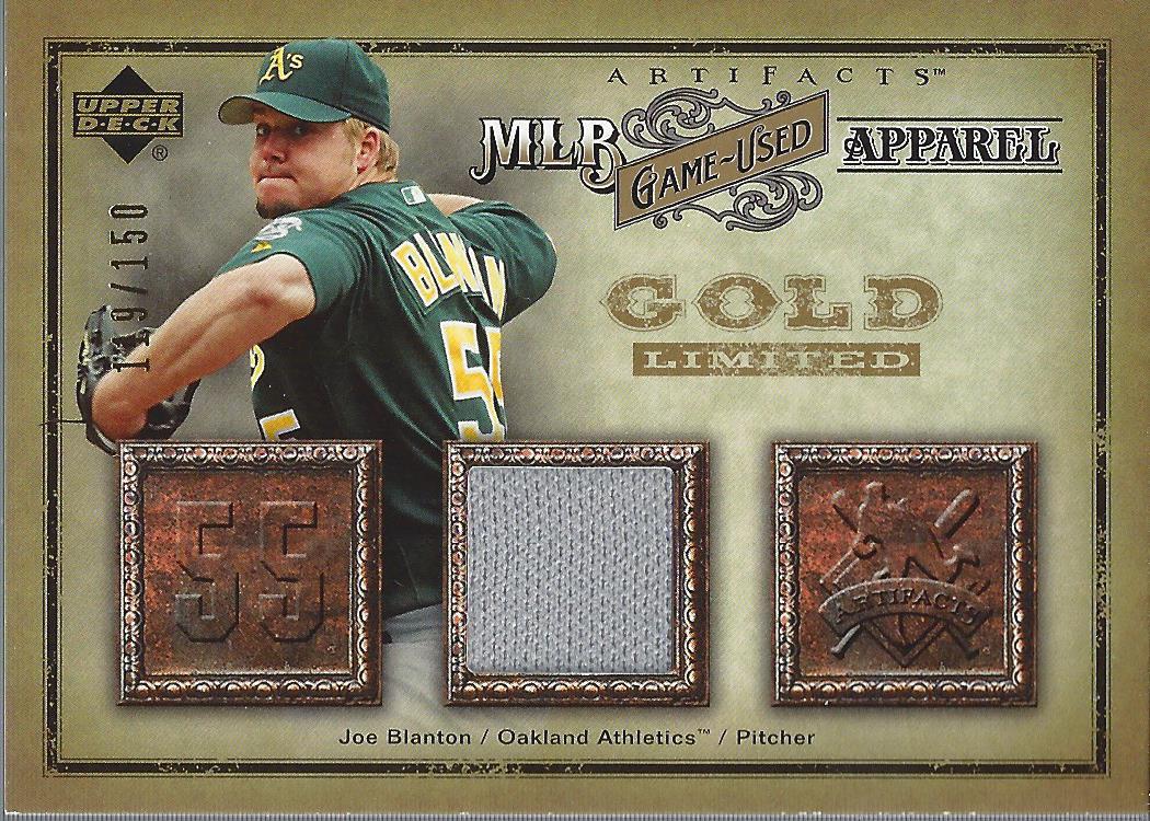 2006 Artifacts MLB Game-Used Apparel Gold Limited #JO Joe Blanton Jsy/150