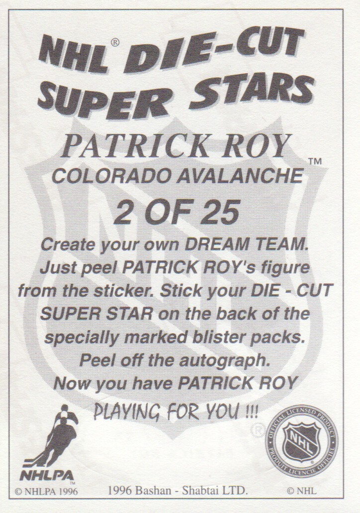 1995-96-Bashan-Imperial-Super-Stickers-Die-Cut-Hockey-Cards-Pick-From-List miniature 5