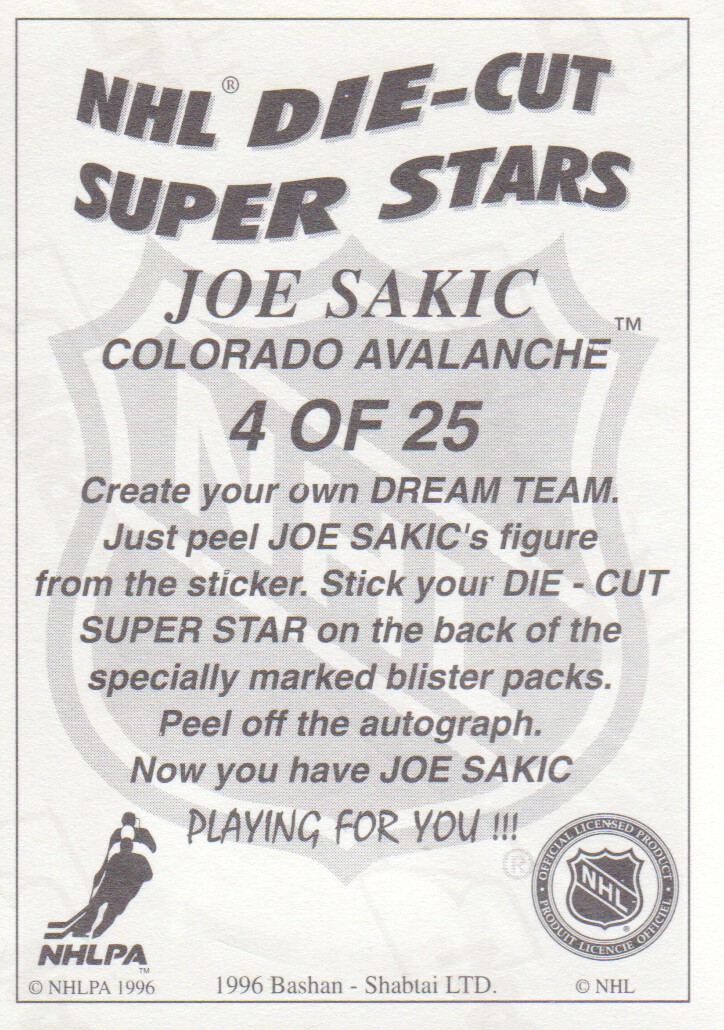 1995-96-Bashan-Imperial-Super-Stickers-Die-Cut-Hockey-Cards-Pick-From-List miniature 7