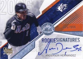 2006 SPx #132 Anderson Hernandez AU/999 (RC)