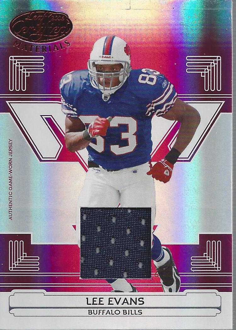 2006 Leaf Certified Materials Mirror Red Materials #18 Lee Evans