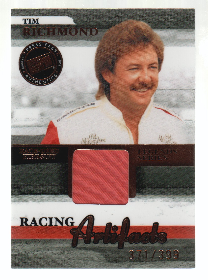 2006 Press Pass Legends Racing Artifacts Firesuit Bronze #TRF Tim Richmond