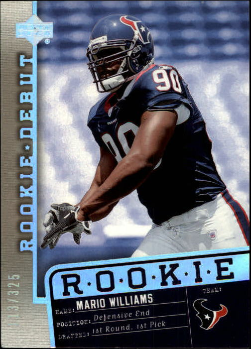 2006 Upper Deck Rookie Debut Holofoil #144 Mario Williams