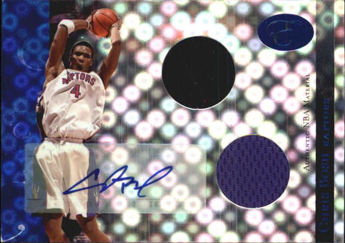 2006-07 Bowman Elevation Power Brokers Relics Dual Autographs Blue #RCB Chris Bosh