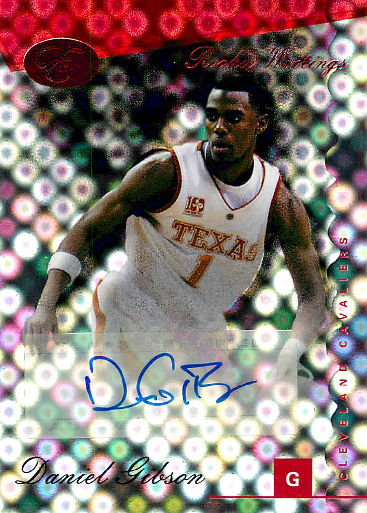 2006-07 Bowman Elevation Rookie Writing Autographs Red #DG Daniel Gibson/89