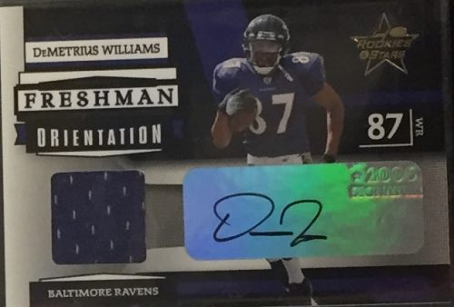 2006 Leaf Rookies and Stars Freshman Orientation Materials Autographs #14 Demetrius Williams