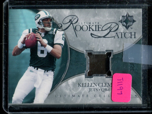 2006 Ultimate Collection Rookie Jerseys Patches Silver #URKC Kellen Clemens