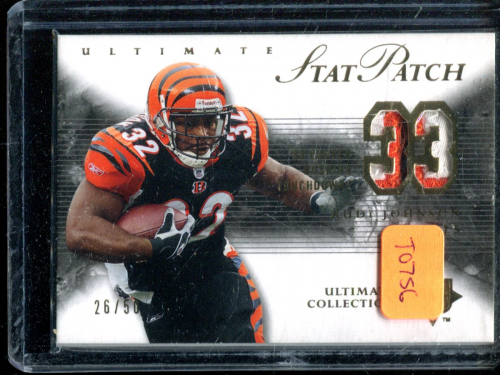 2006 Ultimate Collection Stat Patches #RJ Rudi Johnson