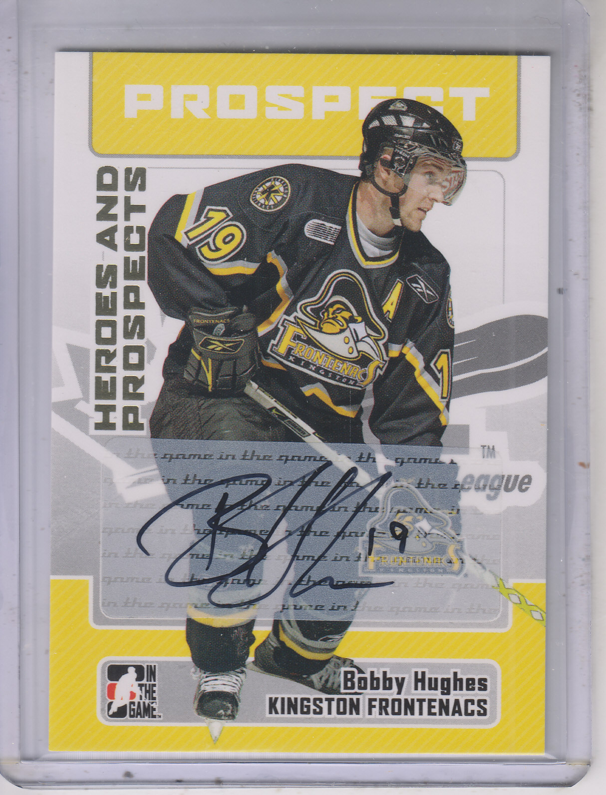 2006-07 ITG Heroes and Prospects Autographs #ABH Bobby Hughes