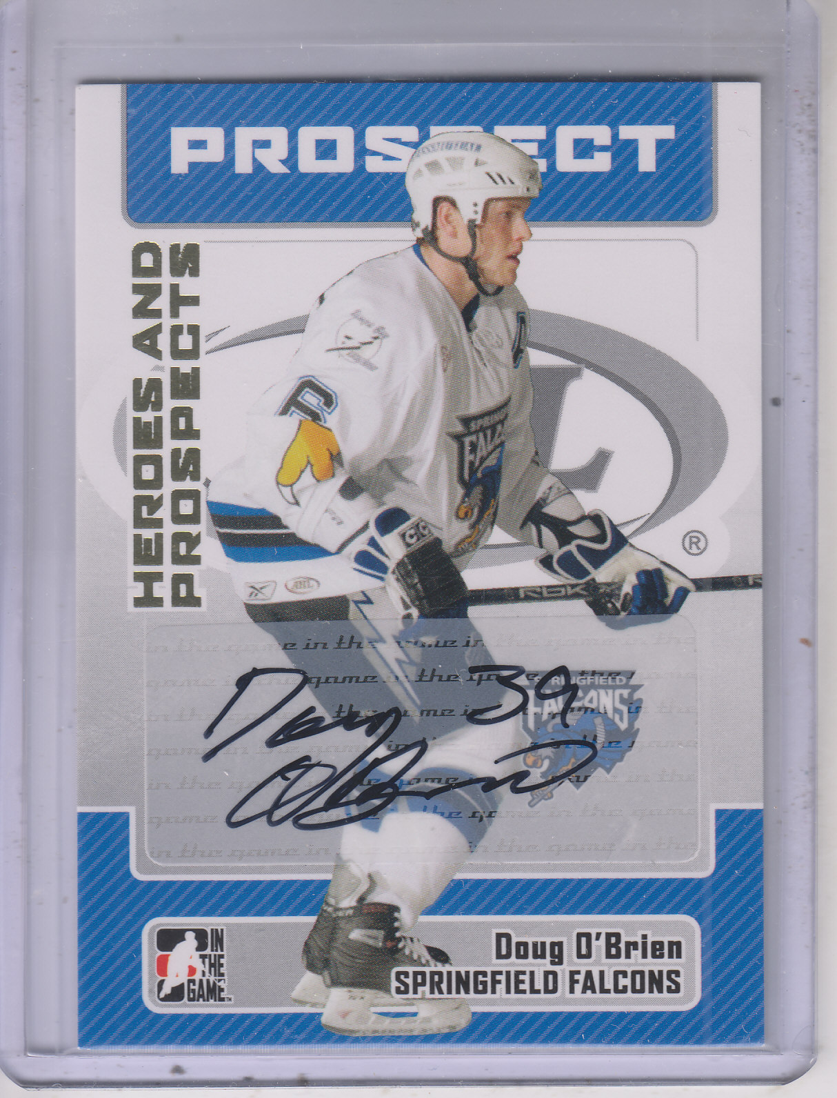 2006-07 ITG Heroes and Prospects Autographs #ADO Doug O'Brien