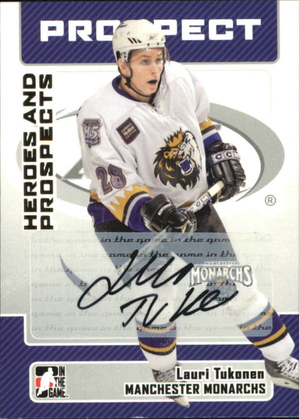 2006-07 ITG Heroes and Prospects Autographs #ALT Lauri Tukonen