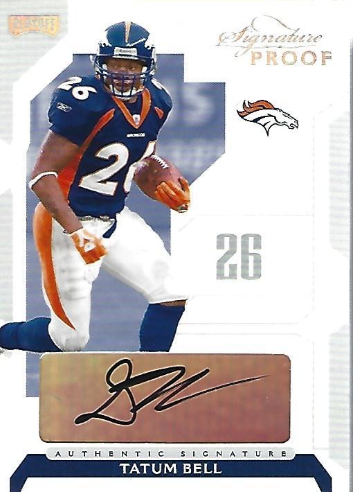 2006 Playoff NFL Playoffs Signature Proofs Silver #61 Tatum Bell/50
