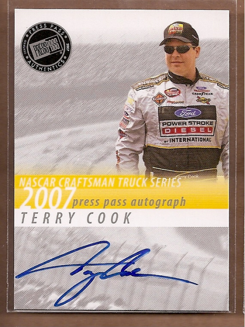 2007 Press Pass Autographs #7 Terry Cook CTS P