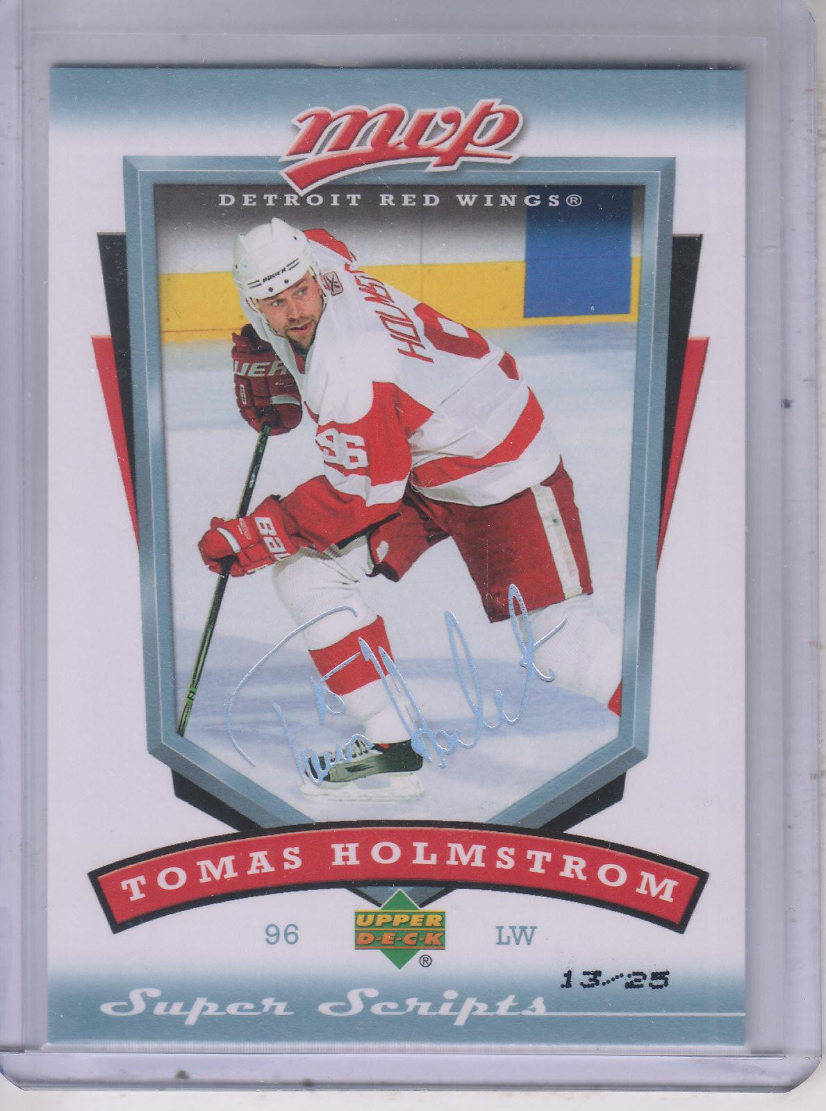 2006-07 Upper Deck MVP Super Script #102 Tomas Holmstrom