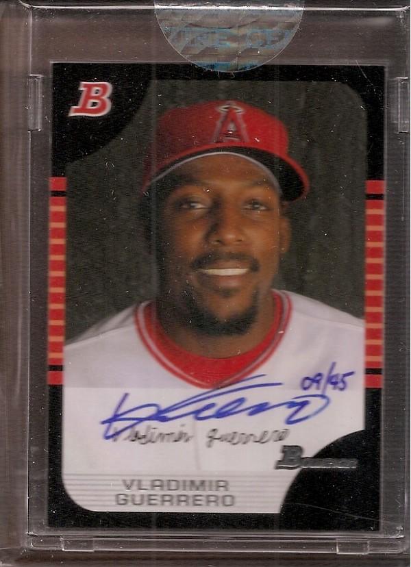 2006 Bowman Originals Buyback Autographs #849 Vladimir Guerrero 05 B/45 C