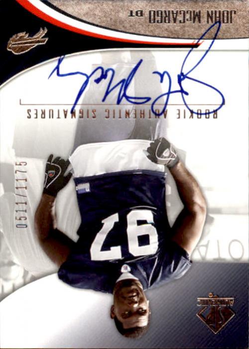 2006 SP Authentic #208 John McCargo AU RC