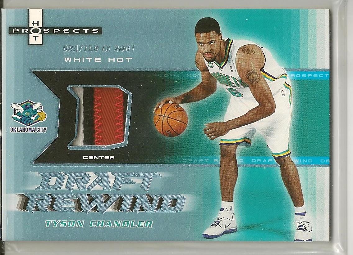 2006-07 Fleer Hot Prospects Draft Rewind Patches #TC Tyson Chandler