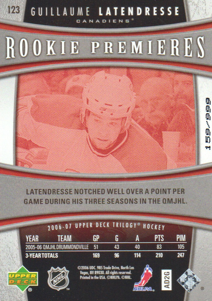 2006-07-Upper-Deck-Trilogy-Hockey-Cards-Pick-From-List thumbnail 131