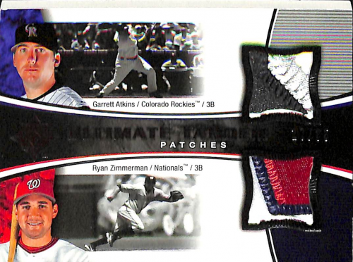 2006 Ultimate Collection Tandem Materials Patch #ZA Garrett Atkins/Ryan Zimmerman