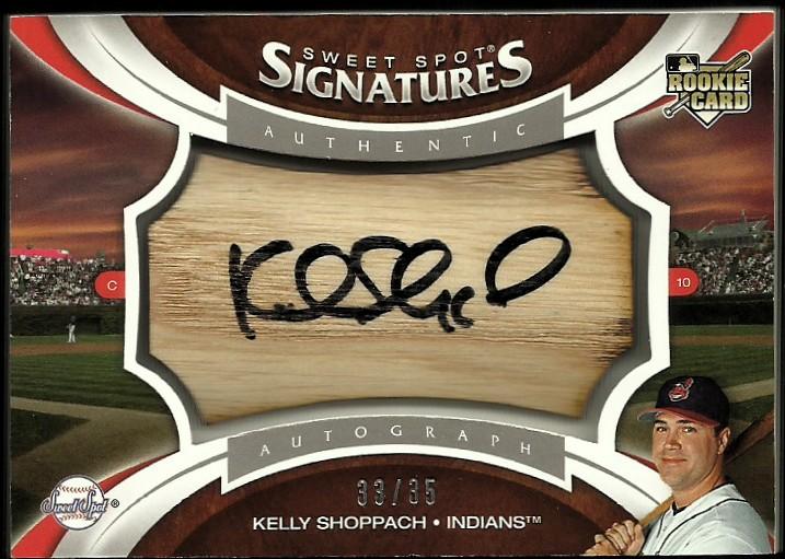 2006 Sweet Spot Update Rookie Signatures Bat Barrel Black Ink #144 Kelly Shoppach/35