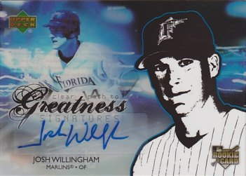 2006 Upper Deck Future Stars #108 Josh Willingham AU SP (RC)