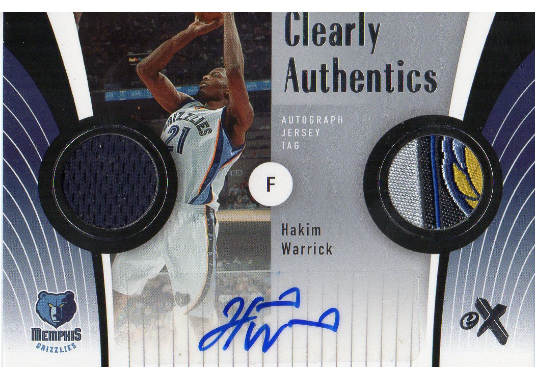 2006-07 E-X Clearly Authentics Jersey Tags Autographs #CAHW Hakim Warrick