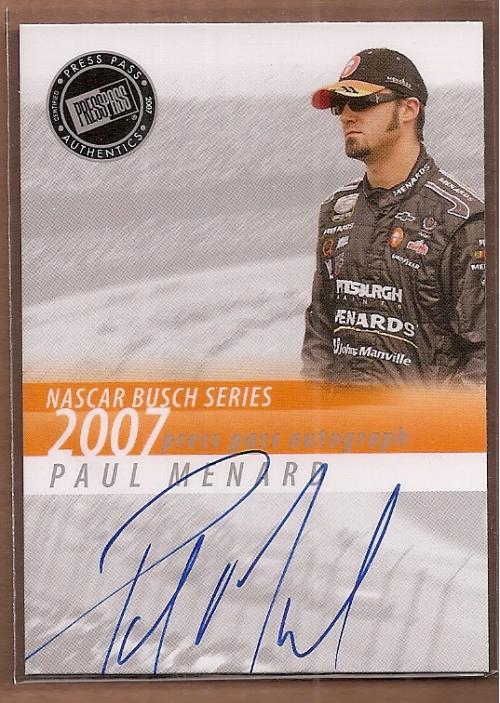 2007 Press Pass Autographs #32 Paul Menard