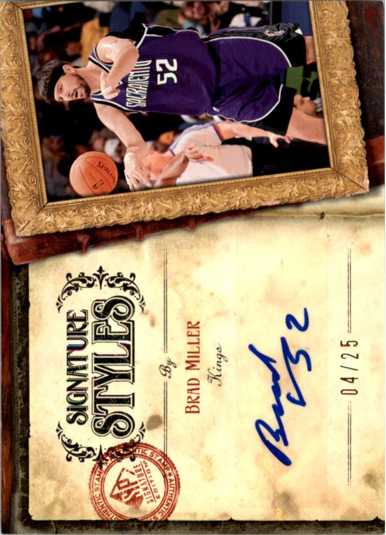 2006-07 SP Signature Edition Signature Style #BM Brad Miller