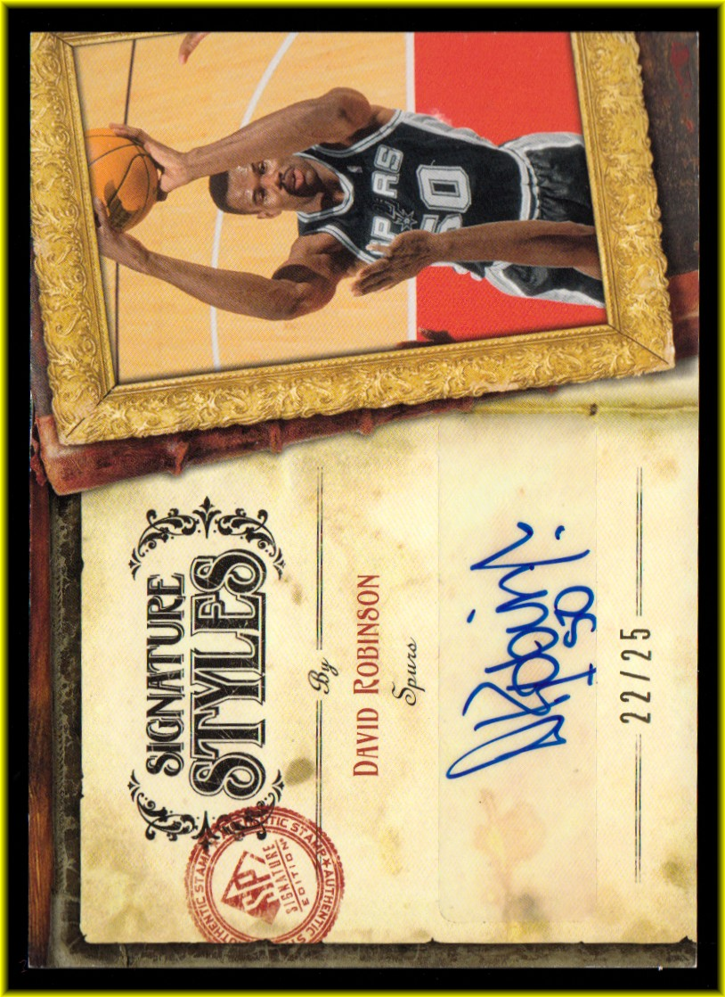 2006-07 SP Signature Edition Signature Style #DR David Robinson