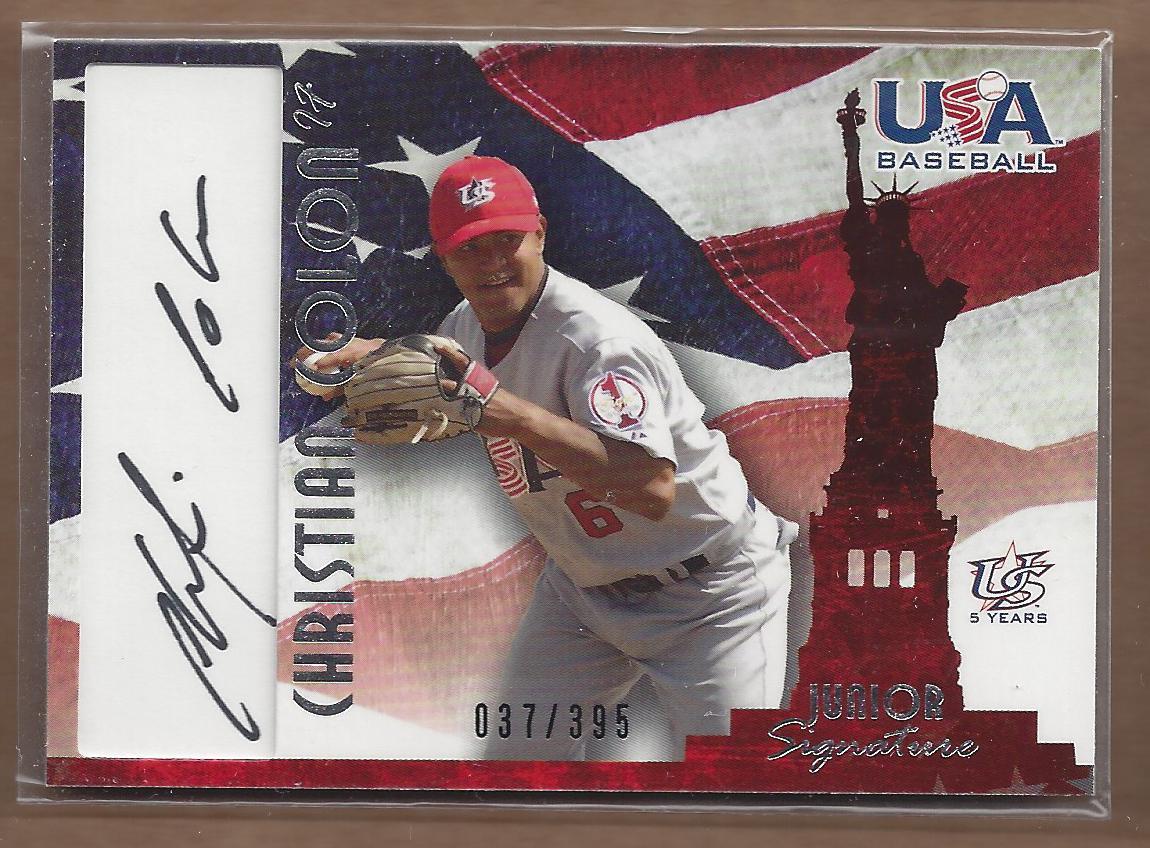 2006-07 USA Baseball Signatures Black #32 Christian Colon