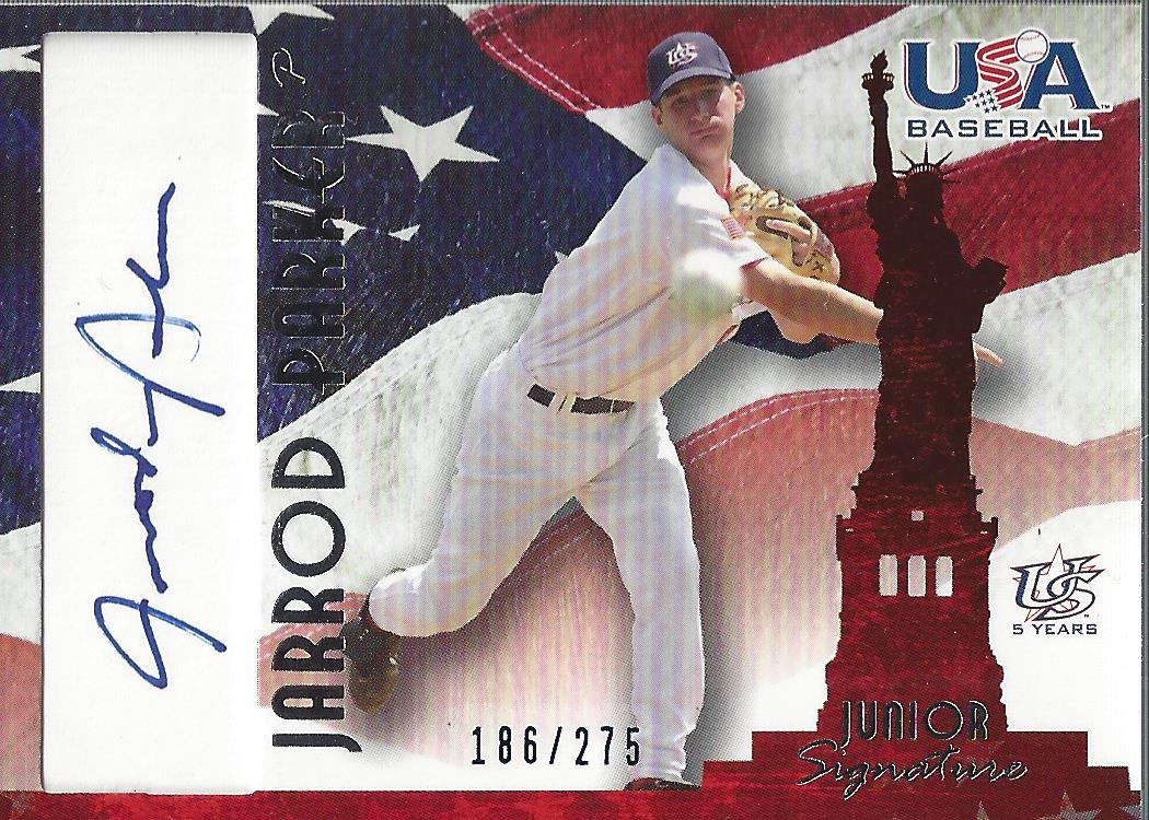 2006-07 USA Baseball Signatures Blue #27 Jarrod Parker