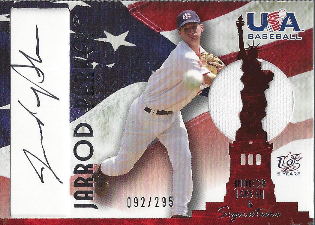 2006-07 USA Baseball Signatures Jersey Black #28 Jarrod Parker