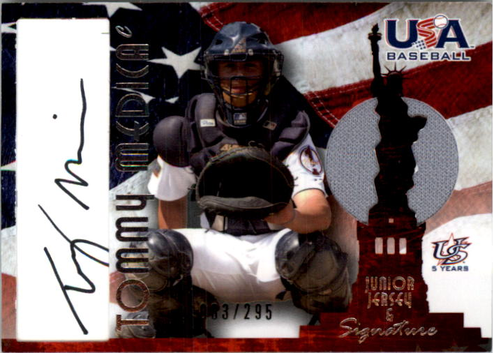 2006-07 USA Baseball Signatures Jersey Black #41 Tommy Medica