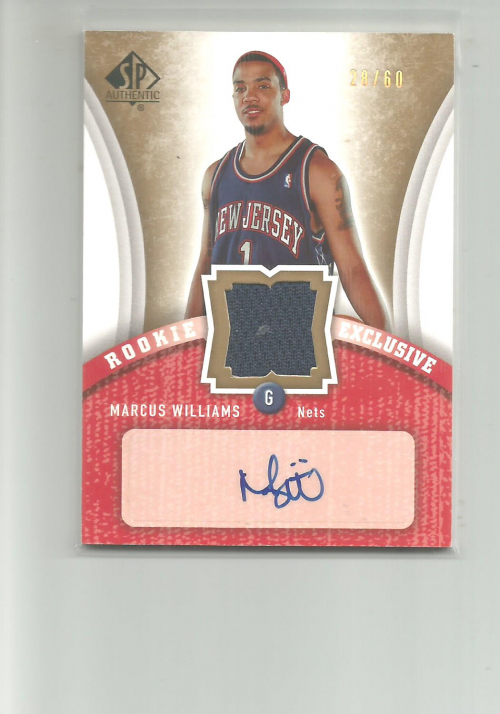 2006-07 SP Authentic Rookie Exclusives Jerseys Autographs #MW Marcus Williams