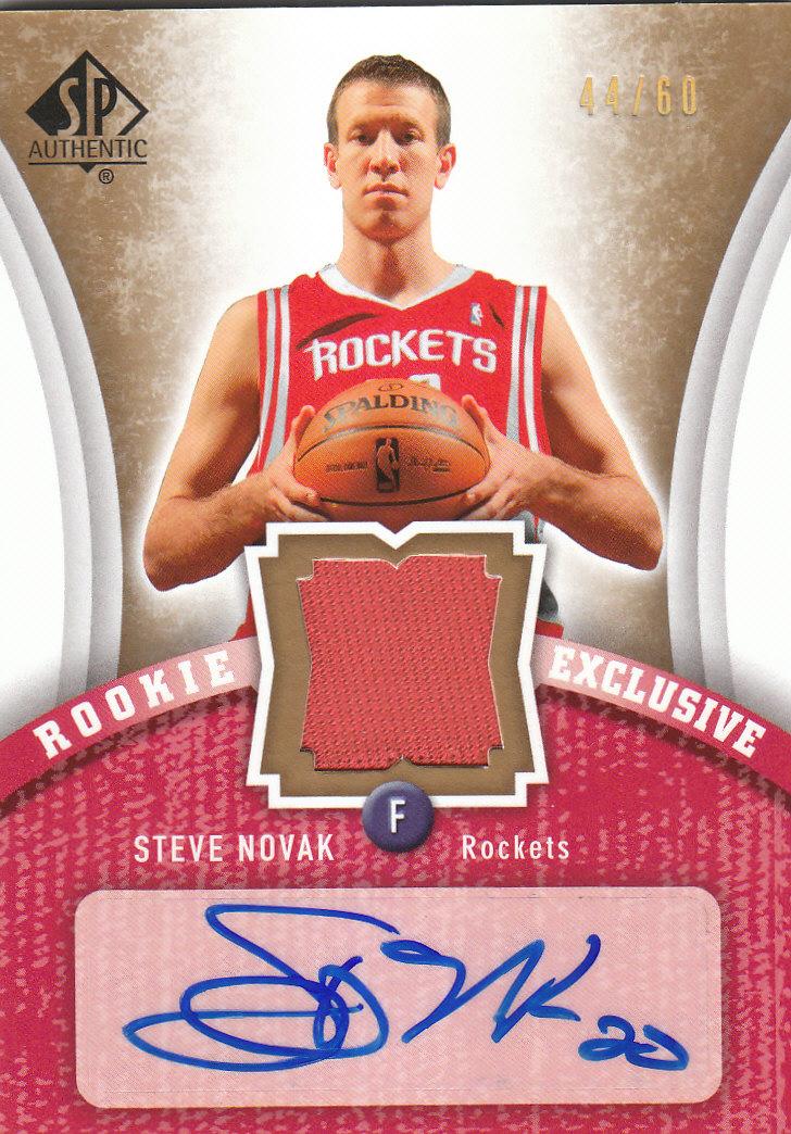2006-07 SP Authentic Rookie Exclusives Jerseys Autographs #SN Steve Novak