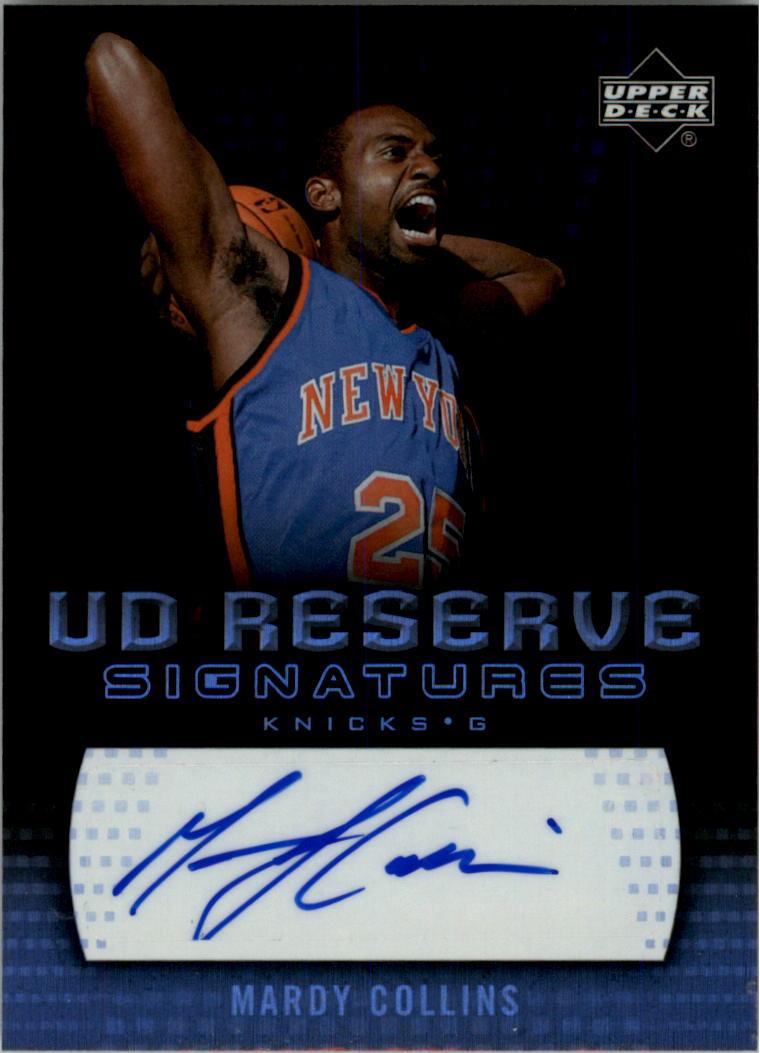 2006-07 UD Reserve Signatures #MC Mardy Collins