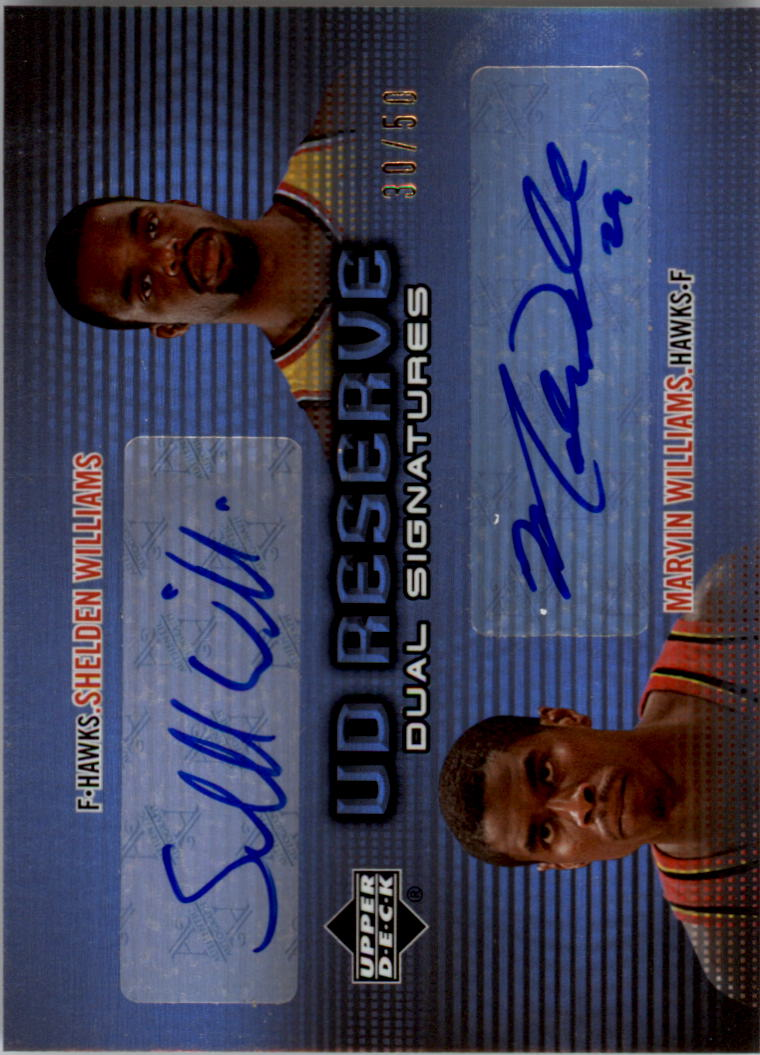 2006-07 UD Reserve Signatures Dual #SM Shelden Williams/Marvin Williams