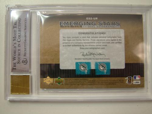 2007 Upper Deck Premier Emerging Stars Autographs Dual #UR Dan Uggla/Hanley Ramirez back image