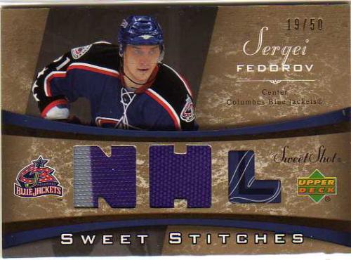 2006-07 Sweet Shot Sweet Stitches Duals #SSSF Sergei Fedorov