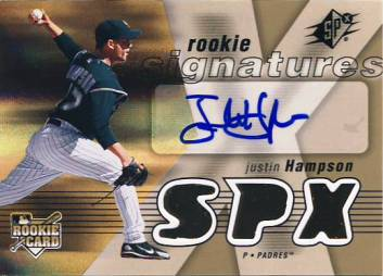 2007 SPx #139 Justin Hampson AU (RC)