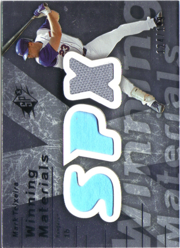 2007 SPx Winning Materials 199 Silver #MT Mark Teixeira/199