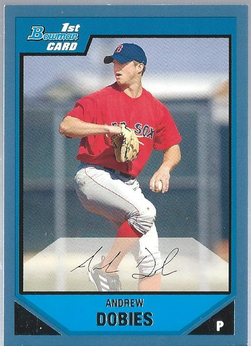 2007 Bowman Prospects Blue #BP93 Andrew Dobies