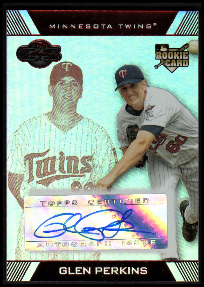 2007 Topps Co-Signers Hyper Silver Red #117 Glen Perkins AU