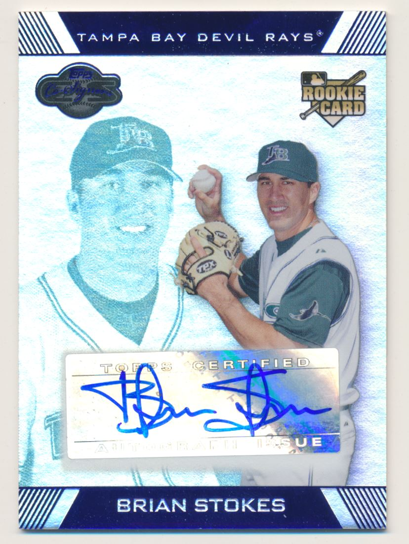 2007 Topps Co-Signers Silver Blue #112 Brian Stokes AU