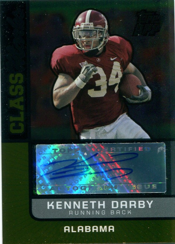 2007 Topps Draft Picks and Prospects Class Marks Autographs Gold #KD Kenneth Darby