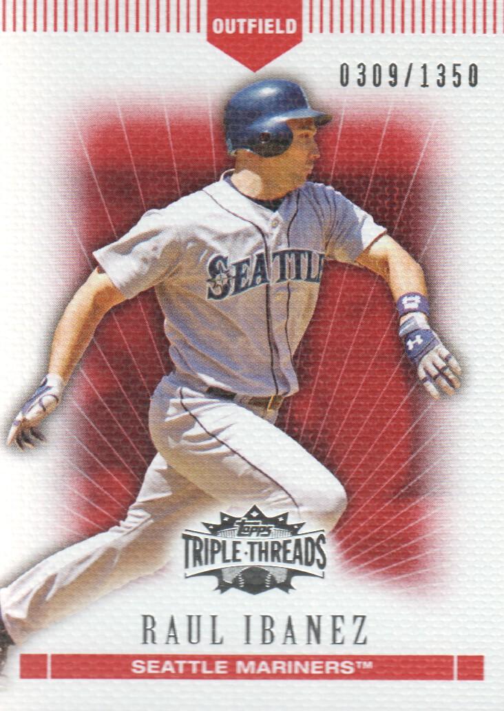 2007 Topps Triple Threads #101 Raul Ibanez
